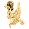 10K, 14K or 18K Gold Hummingbird Pendant