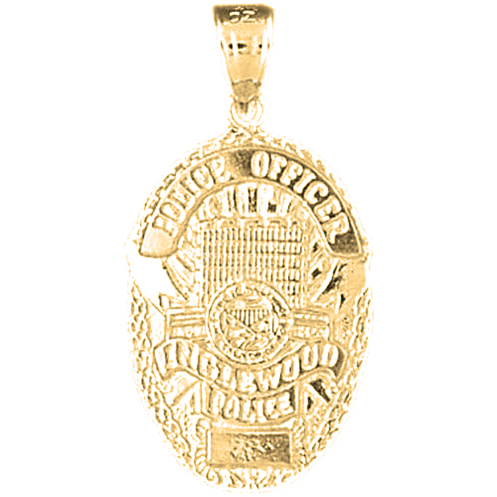 Sterling silver 925 inglewood police pendant sterling silver sterling silver inglewood police pendant rhodium yellow rose or black gold plated aloadofball Choice Image