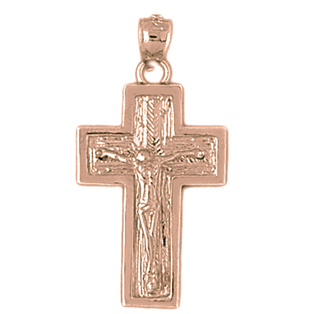 Sterling silver 925 crucifix pendant sterling silver pendants at sterling silver crucifix pendant rhodium yellow rose or black gold plated aloadofball Images