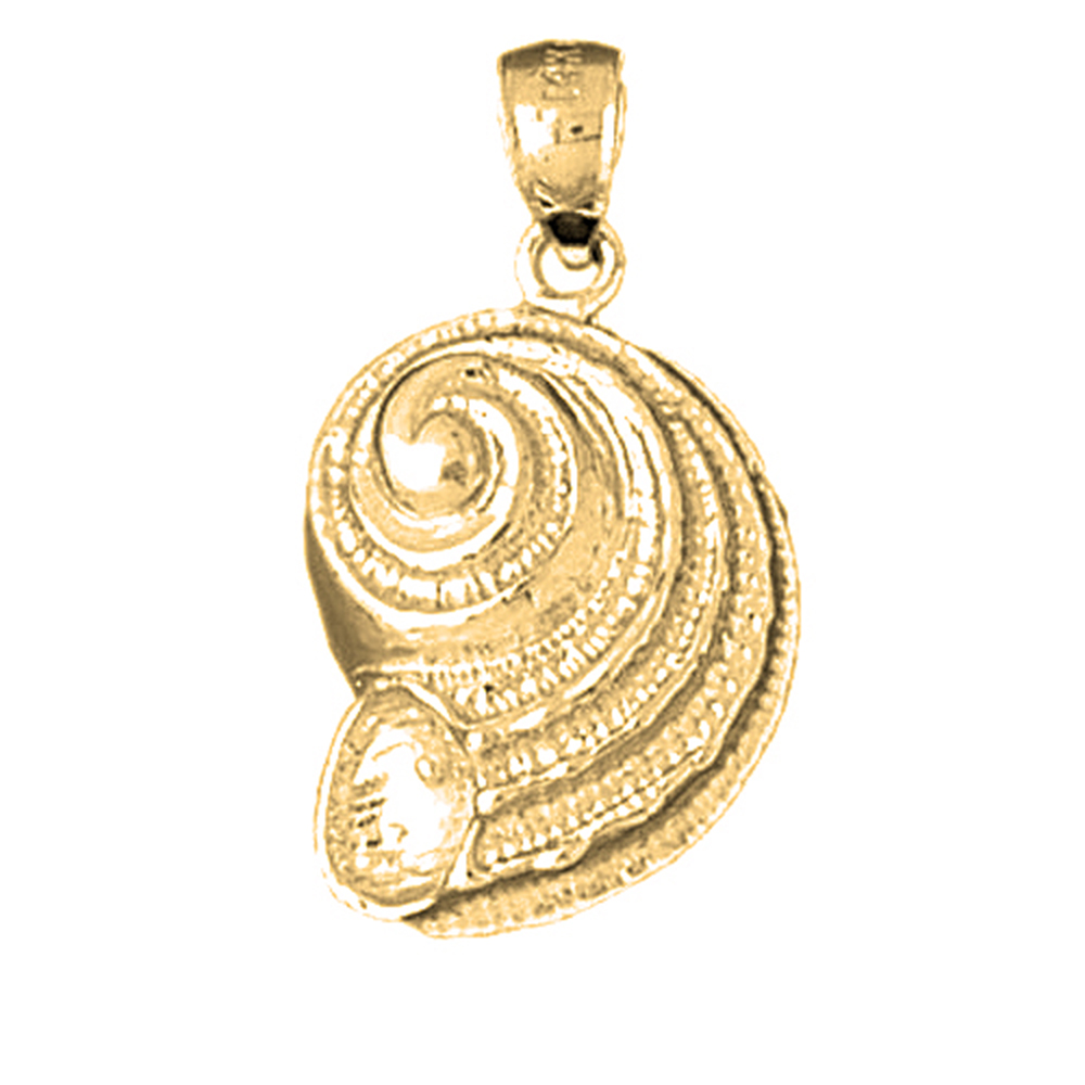 JewelsObsession Sterling Silver 27mm Nautilis Shell Charm w//Lobster Clasp