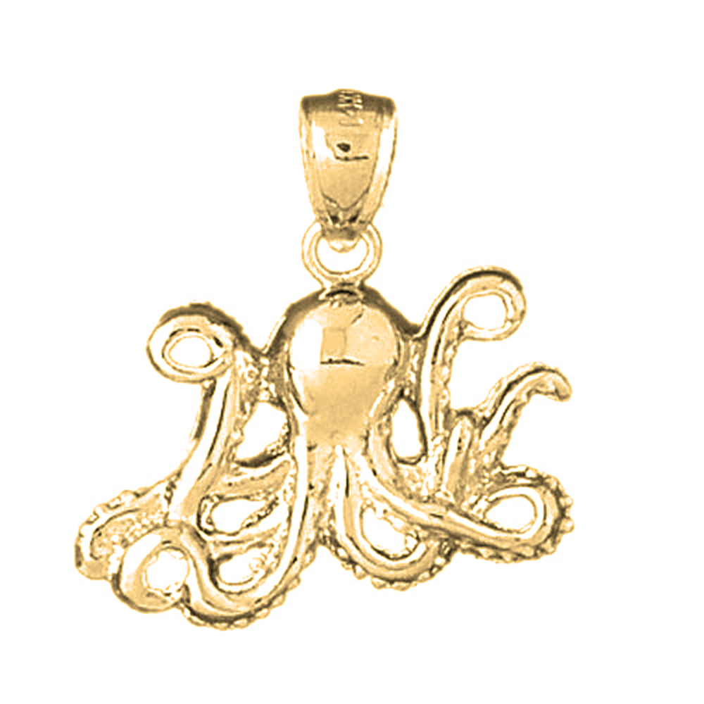 necklace sterling aj silver cz cubic zirconia pendant octopus