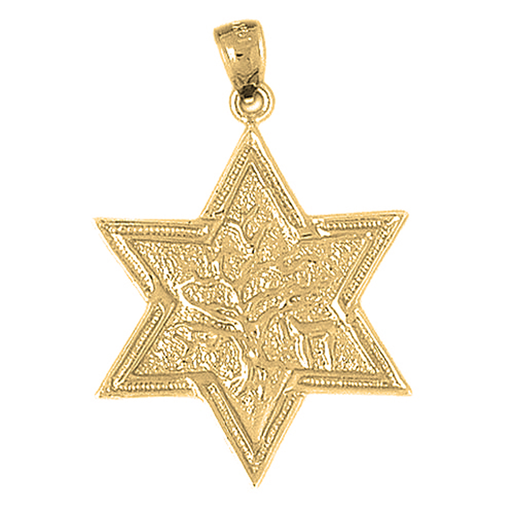 10k 14k or 18k gold star of david with tree of life pendant az9187dz 10k 14k or 18k gold star of david with tree of life pendant aloadofball Images