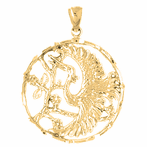 10K, 14K or 18K Gold Stork Pendant