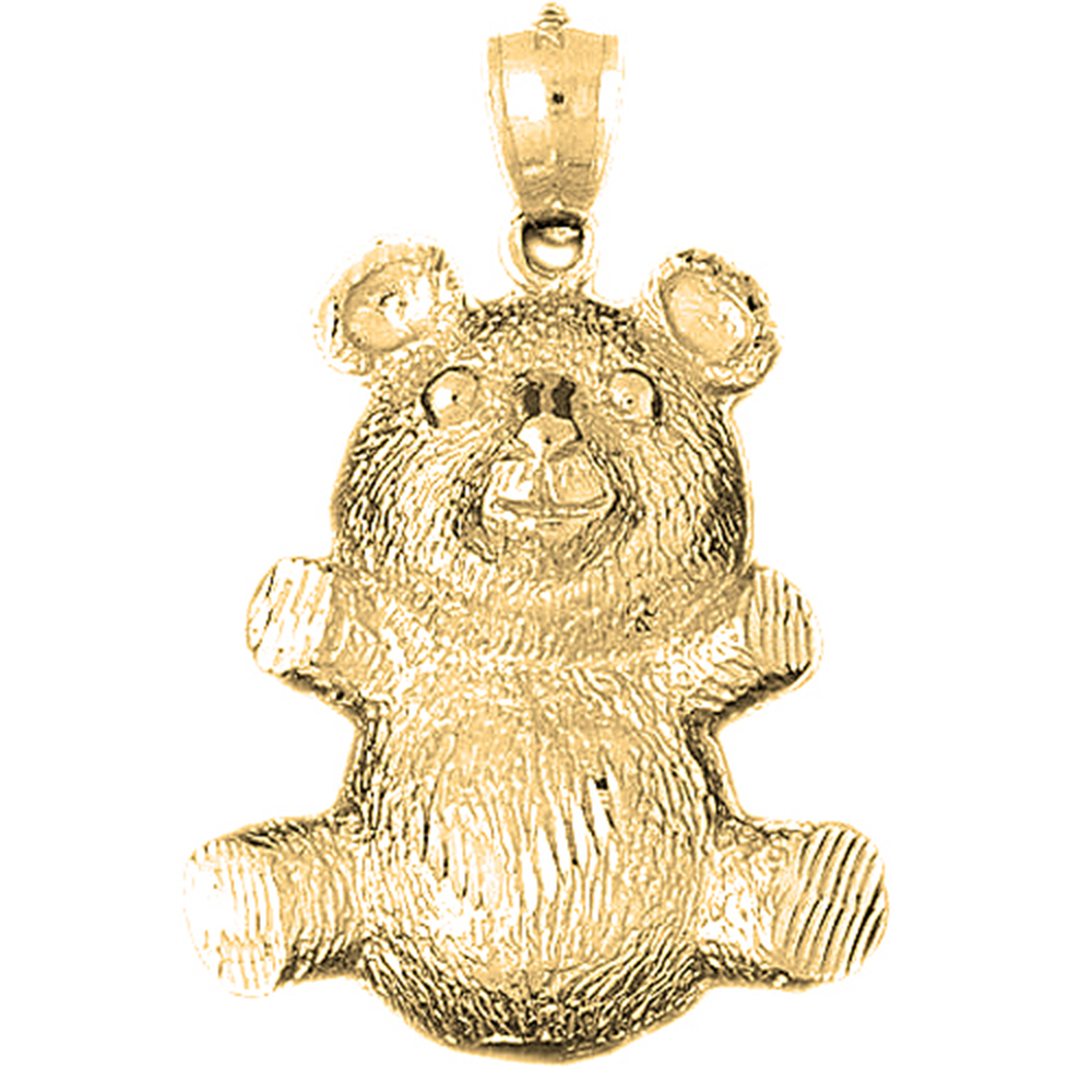 Sterling silver 925 teddy bear pendant sterling silver pendants at sterling silver teddy bear pendant rhodium yellow rose or black gold plated aloadofball Images