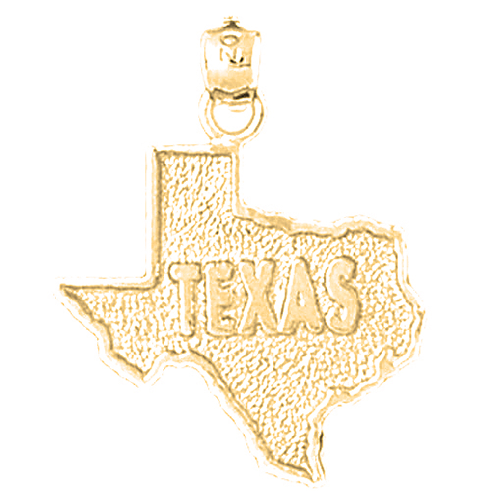 10k 14k or 18k gold texas pendant az5115dz 10k 14k or 18k gold texas pendant mozeypictures Choice Image