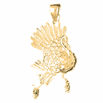 10K, 14K or 18K Gold Turkey Pendant