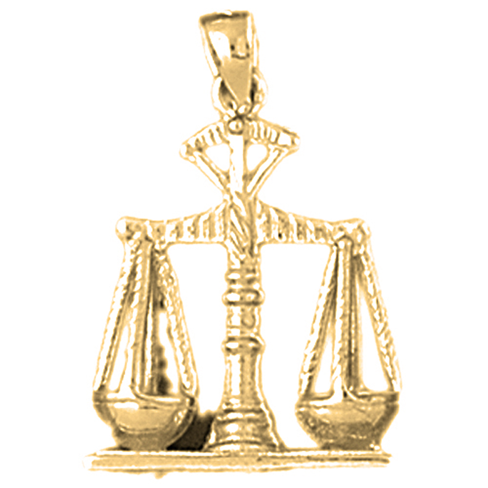 10K, 14K or 18K Gold Weights Of Justice Pendant