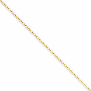14K 1.6mm Cable Chain - 24 inch