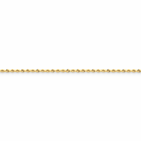 14K 2mm D/C Rope With Lobster Clasp Chain - 14 inch