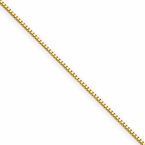 14K .5mm Box Chain - 16 inch