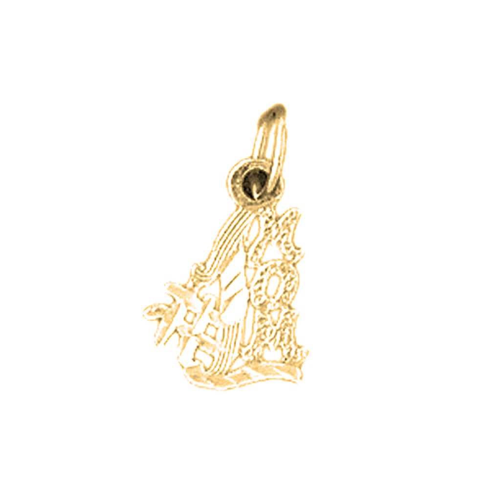 Arts, Crafts & Sewing 14K Gold #1 Mom Pendant Arts, Crafts & Sewing