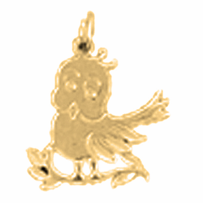 14K or 18K Gold Canary Pendant