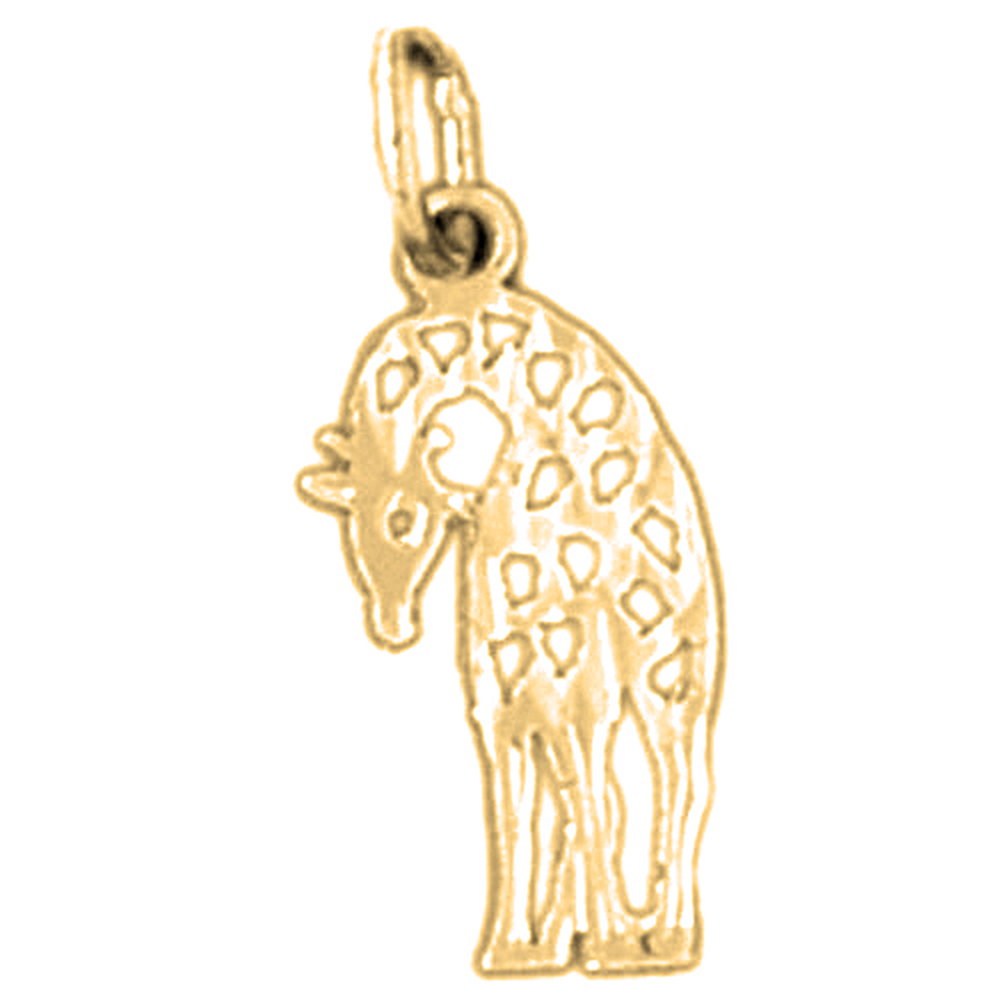 giraffe pendant gold or