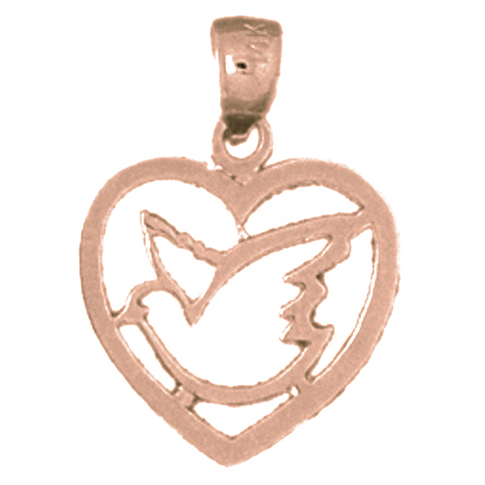 Sterling silver 925 heart with bird pendant sterling silver sterling silver heart with bird pendant rhodium yellow rose or black gold aloadofball Images