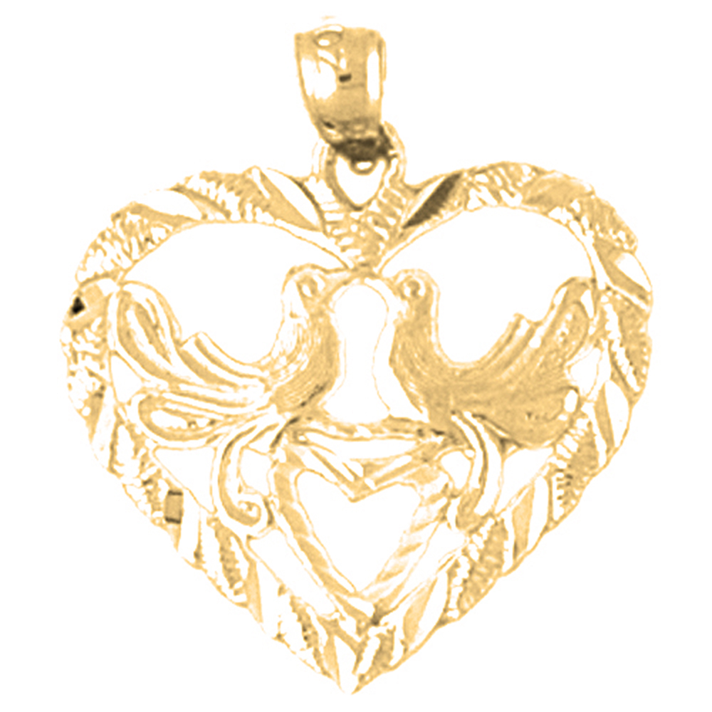 19 mm Jewels Obsession 14K White Gold Love Pendant
