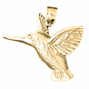 14K or 18K Gold Hummingbird Pendant