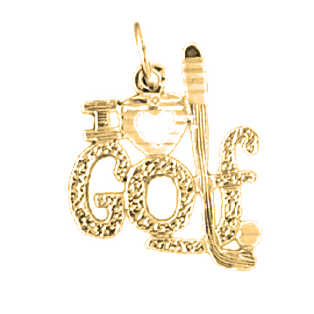 14k or 18k gold i love golf pendant az10857dz 14k or 18k gold i love golf pendant aloadofball Choice Image