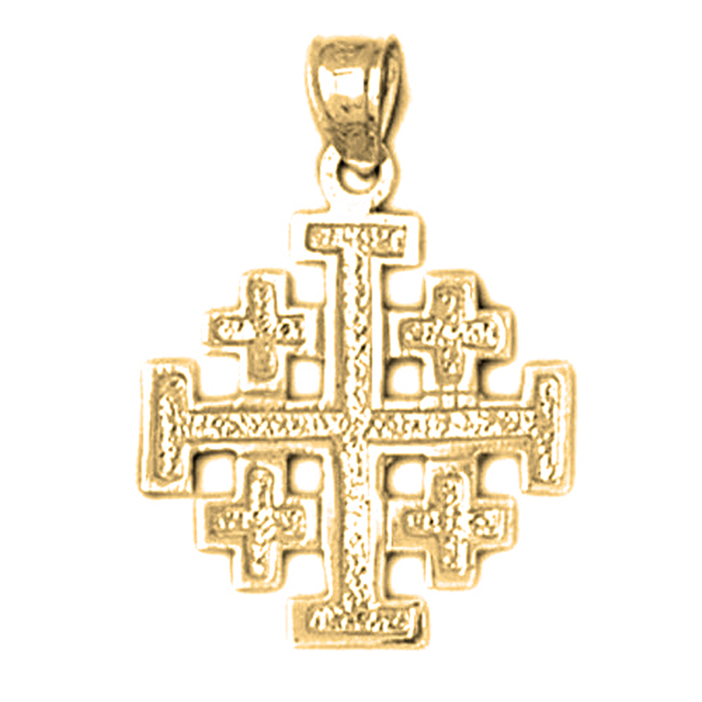 14k or 18k gold jerusalem cross pendant az8866dz 14k or 18k gold jerusalem cross pendant aloadofball Images