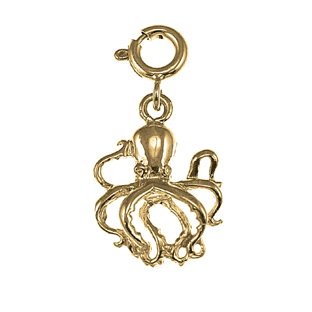 wave blue jewelry octopus necklace products bronze pendant image