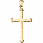 14K or 18K Gold Other Cross Pendant