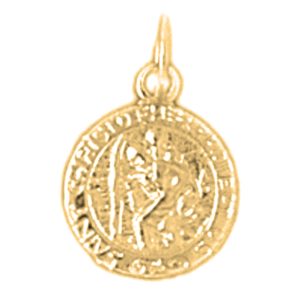 products charms rose gold charm necklaces medals collections medal medallion christopher st pendants efef and saint
