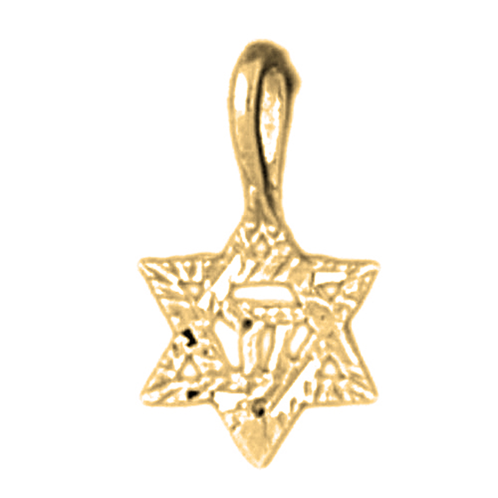s chai david pendant harp gold