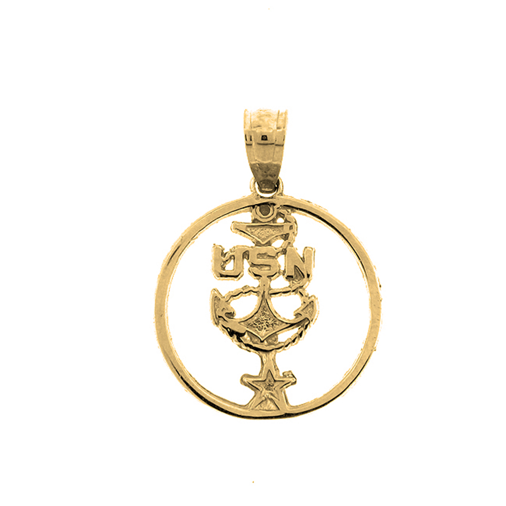 14k or 18k gold usn united states navy pendant az6284dz 14k or 18k gold usn united states navy pendant aloadofball Choice Image