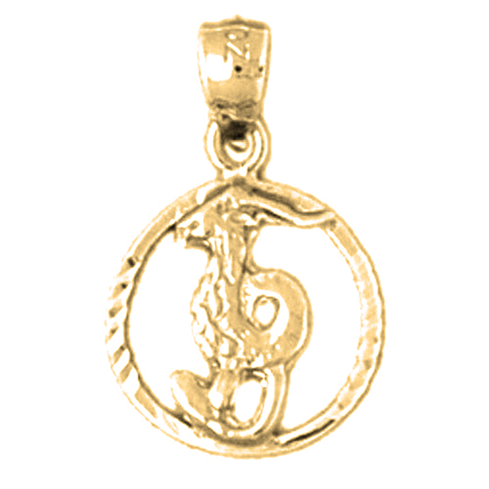 rope necklace pendant chain yellow solid products capricorn online gold