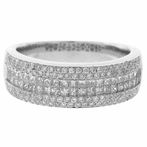 14K White Gold Diamond Lady's Invisible Band