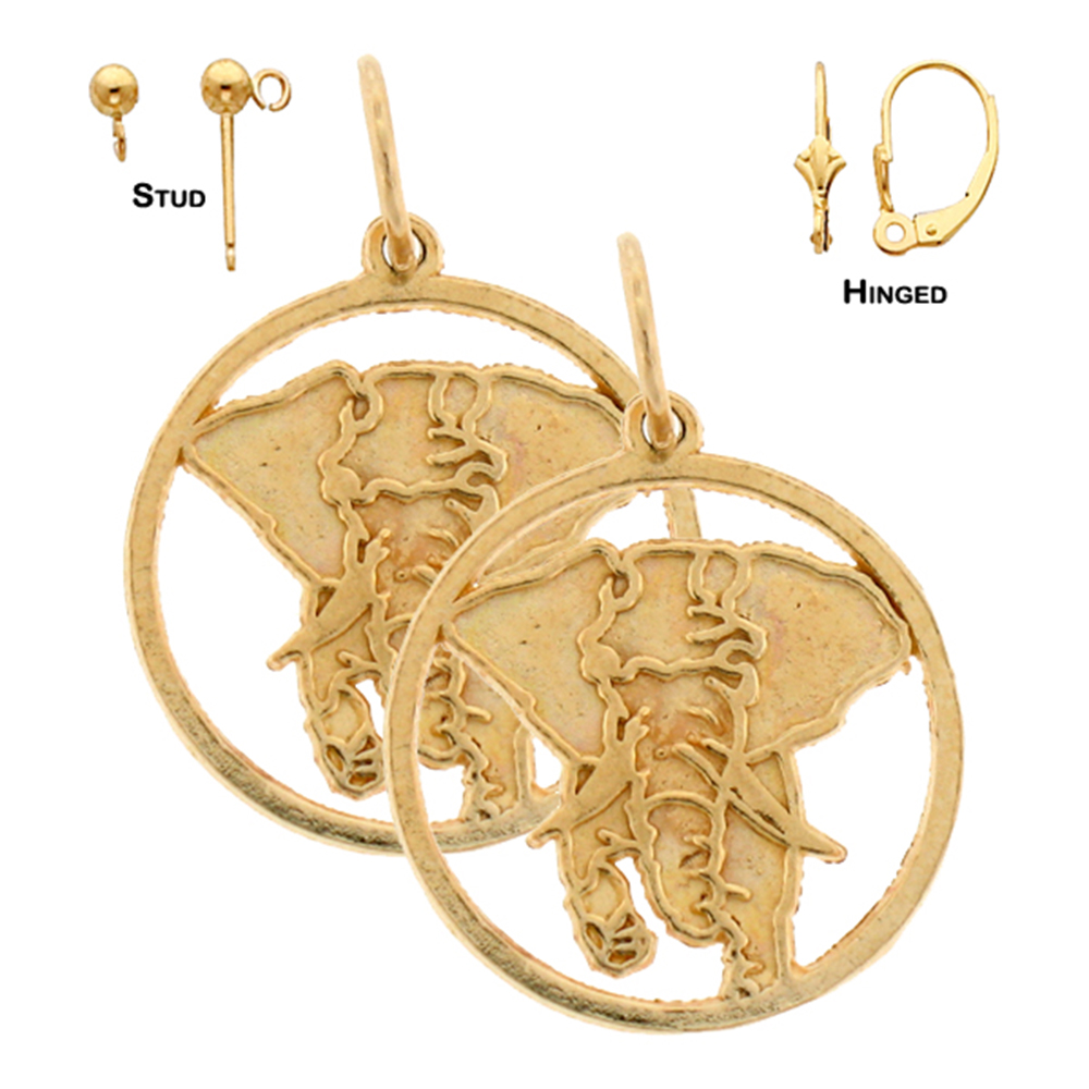 14k yellow gold 20mm elephant earrings shop our selection of 14k or 18k gold 20mm elephant earrings freerunsca Images