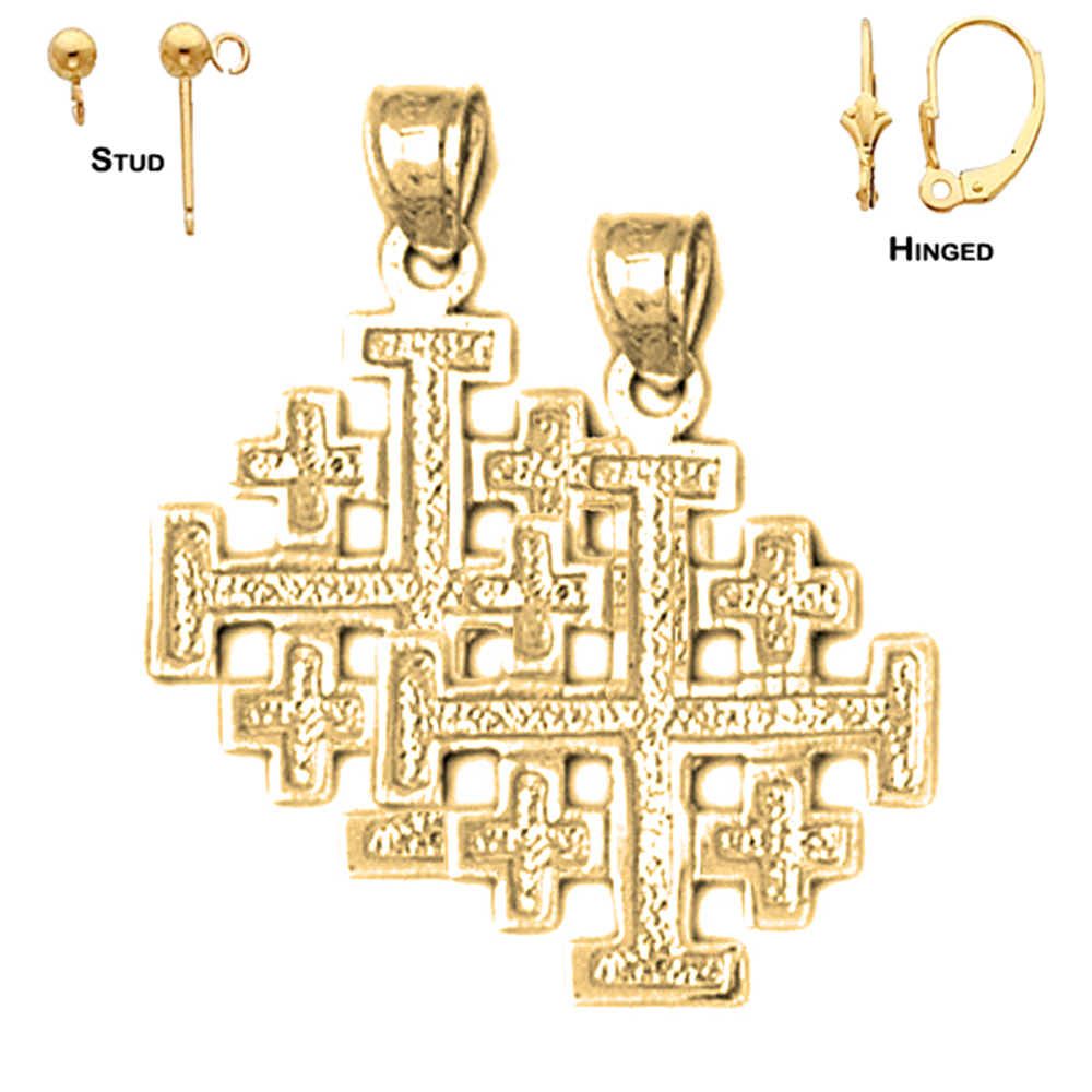 Bonyak Jewelry Gold Over Sterling Silver Crucifix with 18 in Gold Plated Brass Chain and Deluxe Gift Box