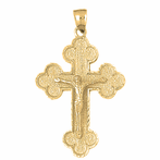Budded Crucifix Pendants