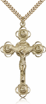 14K Gold Filled Crucifix Pendant