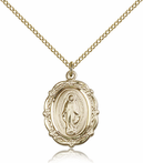 14K Gold Filled Miraculous Pendant