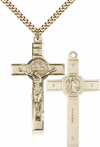 14K Gold Filled St. Benedict Crucifix Pendant
