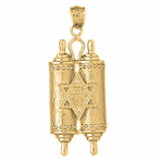 Jewish Torah Scroll Pendants