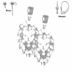 Sterling Silver 18mm Lion Head Earrings (White or Yellow Gold Plated)
