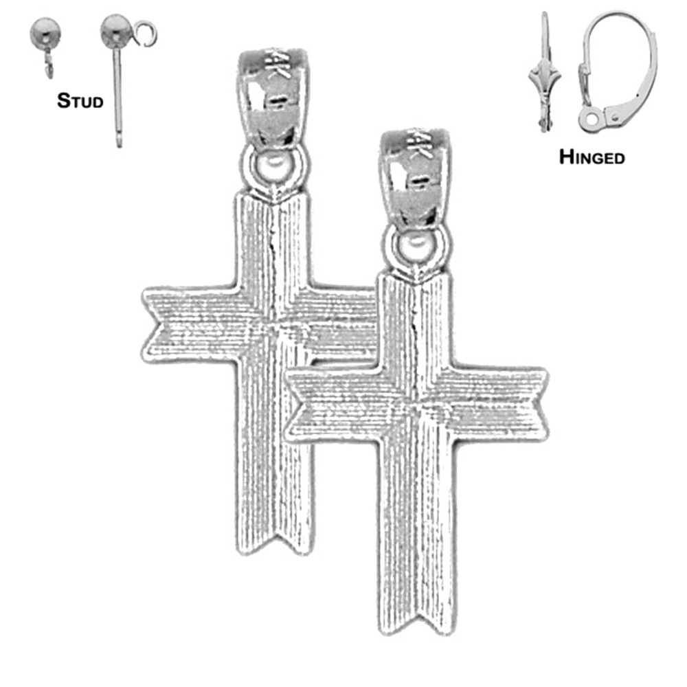 14K Yellow Gold-plated 925 Silver Latin Cross Pendant with 16 Necklace Jewels Obsession Cross Necklace