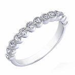 Rhodium-plated 925 Sterling Silver Princess Crown CZ Ring Band