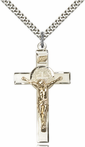 14K Two-Tone Gold Filled Sterling Silver St. Benedict Crucifix Pendant