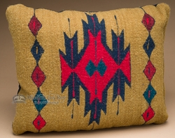 Southwest Pattern Pillow - Hand Woven Zapotec 12x16 (12a) - Southwest Zapotec Pillows -Hand Woven