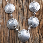 100 Years of  Silver Quarter Necklace