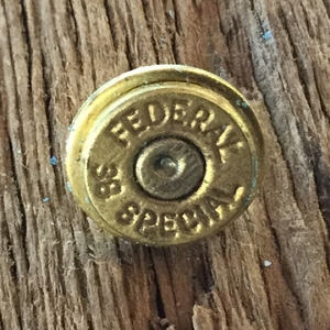 Authentic Bullet Tie Tack 38 Special Caliber. Tie Tack for Him. Bullet Jewelry
