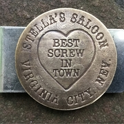 Best Screw in Town from Stella's Saloon Brass Brothel TOken for men.