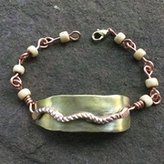 Brass Casing with Copper Rope Bracelet