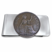 Valentine's Day Money Clip. British Penny Money Clip. Unique Money Clip. Britiania Money Clip. Gift for Dad