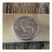 Buffalo Nickel Money Clip. Buffalo Coin Money Clip. Coin Money Clip
