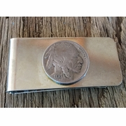 Buffalo Nickel Money Clip. Indian Money Clip. Coin Money Clip