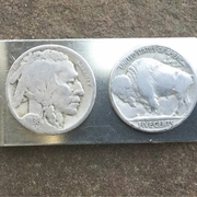Valentine's Day Buffalo Nickle Money Clip. Gift for Him. Nickel Money Clip. Handmade Indian Money Clip.