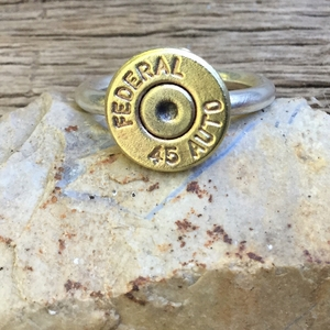 Valentine's Day Ring for a Hunter. Handmade Bullet Ring. Bullet Ring. What's your caliber?